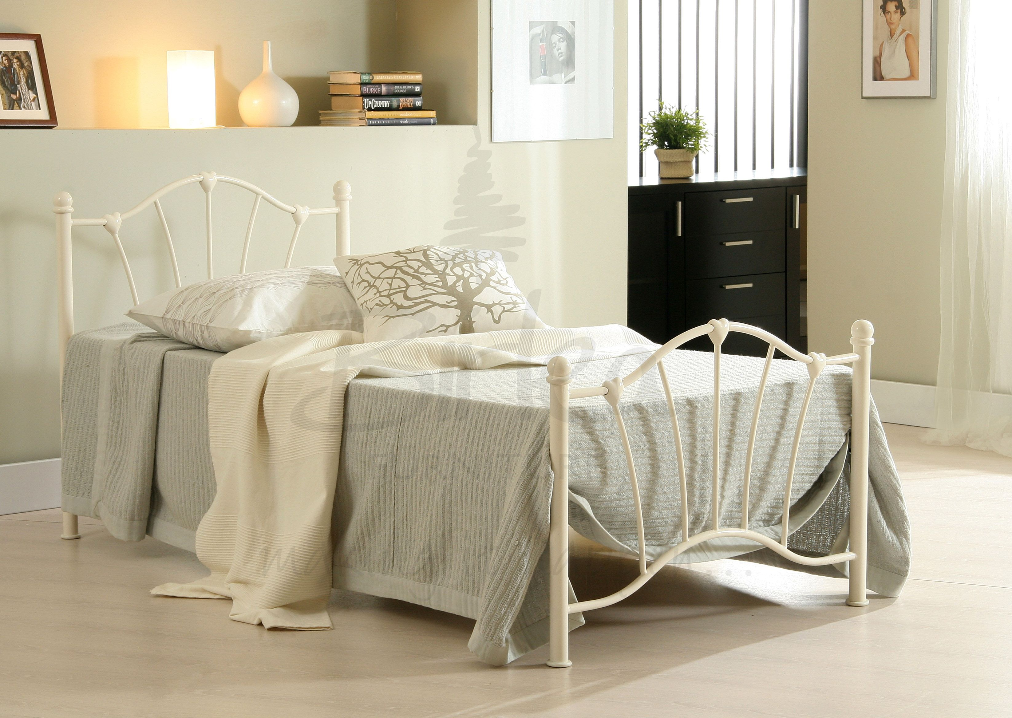 BIRLEA Sophia Cream 3ft Single Metal Bed Frame £79